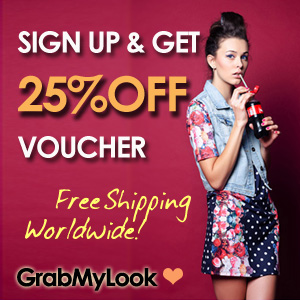 GrabMyLook 25% off 728x90 Horizontal Banner